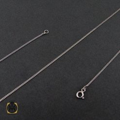 زنجیر نقره طرح امگا 50 سانتی زنانه – کد 10011 - 1 143 247x247
