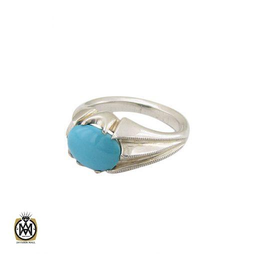 انگشتر فیروزه نیشابوری مردانه خوش رنگ و فاخر - کد 8678 - 1 163 510x510
