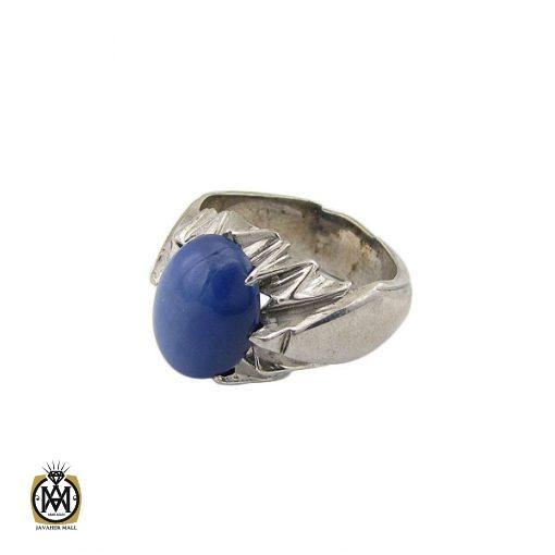 انگشتر یاقوت کبود استار مردانه - کد 8701 - 1 186 510x510