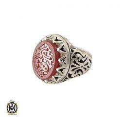 انگشتر عقیق یمن مردانه با حکاکی یا حسین ثارالله استاد حیدر - کد 8603 - 1 21 247x247
