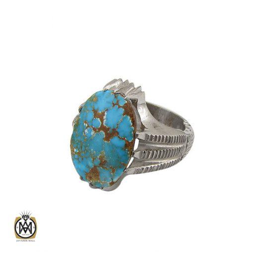 انگشتر فیروزه نیشابوری درشت مردانه هنر دست استاد شرفیان - کد 8768 - 1 285 510x510