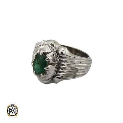 انگشتر زمرد زامبیا مردانه خوش رنگ - کد 8772 - 1 289 510x510