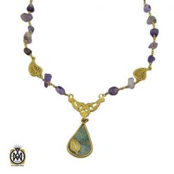 مدال آمتیست زنانه اصل و معدنی طرح ارمغان - کد 3316 - 1 320 247x247