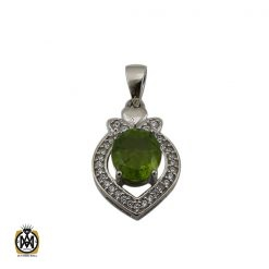 مدال زبرجد طرح شاپرک زنانه - کد 3278