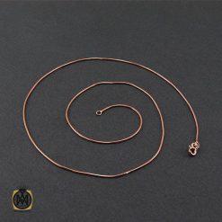 زنجیر نقره طرح امگا 50سانتی زنانه رزگلد – کد 10010 - 2 140 247x247