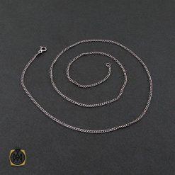 زنجیر نقره زنانه طرح جذاب 45 سانتی – کد 10012 - 2 142 247x247