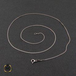 زنجیر نقره طرح جذاب 50 سانتی زنانه – کد 10014 - 2 143 247x247