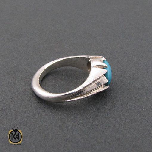 انگشتر فیروزه نیشابوری مردانه خوش رنگ و فاخر - کد 8678 - 2 163 510x510