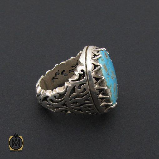 انگشتر فیروزه نیشابوری مردانه درشت و با کیفیت - کد 8719 - 2 206 510x510