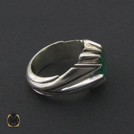 انگشتر زمرد زامبیا مرغوب مردانه هنر دست استاد نامی - کد 8734 - 2 221 510x510