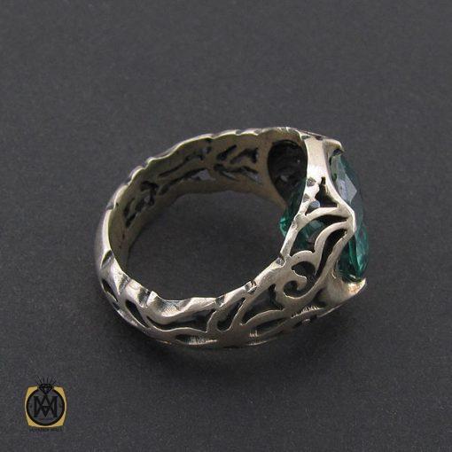 انگشتر توپاز سبز مردانه خوش رنگ و طبیعی - کد 8741 - 2 228 510x510
