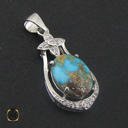 مدال فیروزه نیشابوری زنانه طرح بهارین - کد 3153 - 2 250 510x510