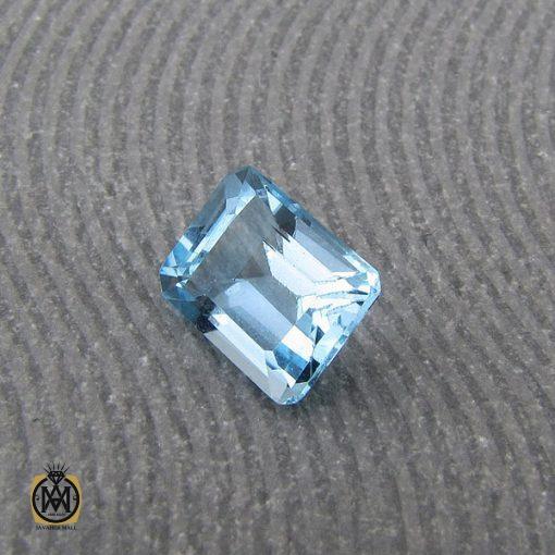 نگین تک توپاز آبی شفاف و مرغوب - کد 9038 - 2 48 510x510