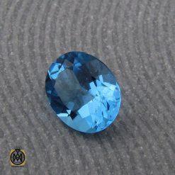 نگین تک توپاز آبی خوش رنگ و مرغوب - کد 9042 - 2 52 247x247