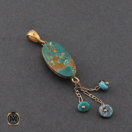 مدال فیروزه نیشابوری زنانه طرح آسنا – کد ۳۱۲۴