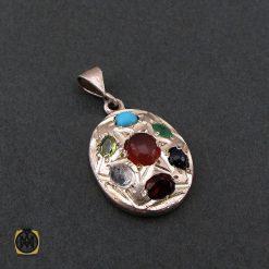 مدال هفت نگین معدنی دست ساز - کد 3135 - 2 84 247x247