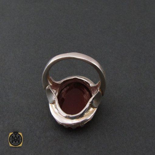 انگشتر عقیق قرمز مردانه با حکاکی وان یکاد - کد 8632 - 3 100 510x510
