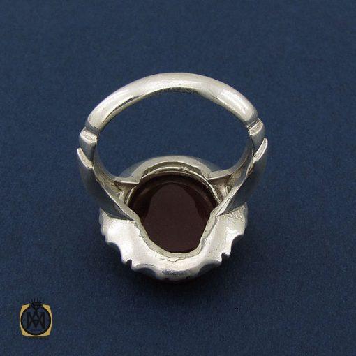 انگشتر عقیق قرمز مردانه با حکاکی ومن یتق الله - کد 8652 - 3 119 510x510