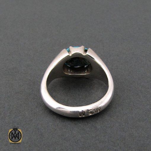 انگشتر فیروزه نیشابوری مردانه خوش رنگ و فاخر - کد 8678 - 3 161 510x510
