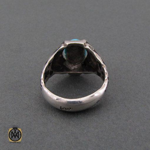 انگشتر فیروزه نیشابور مردانه خوش رنگ - کد 8680 - 3 163 510x510