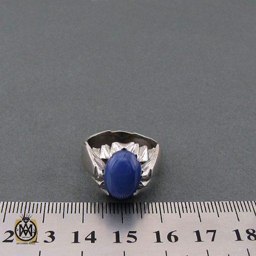 انگشتر یاقوت کبود استار مردانه - کد 8701 - 3 184 510x510
