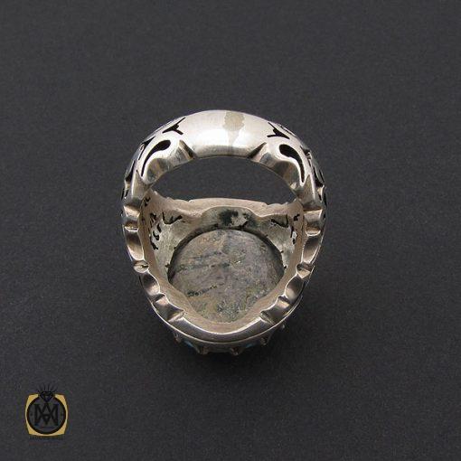 انگشتر فیروزه نیشابوری مردانه درشت و با کیفیت - کد 8719 - 3 204 510x510