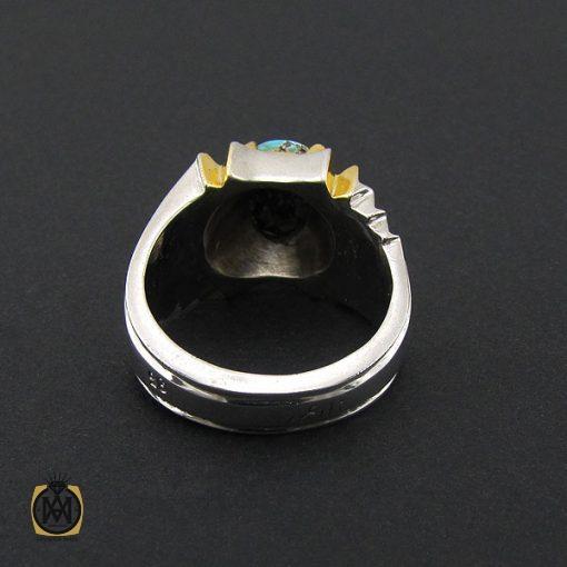 انگشتر فیروزه نیشابوری خوش طبع مردانه هنر دست استاد زارعی - کد 8720 - 3 205 510x510