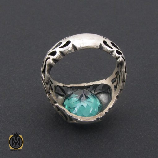 انگشتر توپاز سبز مردانه خوش رنگ و طبیعی - کد 8741 - 3 226 510x510