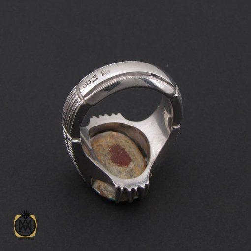انگشتر فیروزه نیشابوری درشت مردانه هنر دست استاد شرفیان - کد 8768 - 3 283 510x510