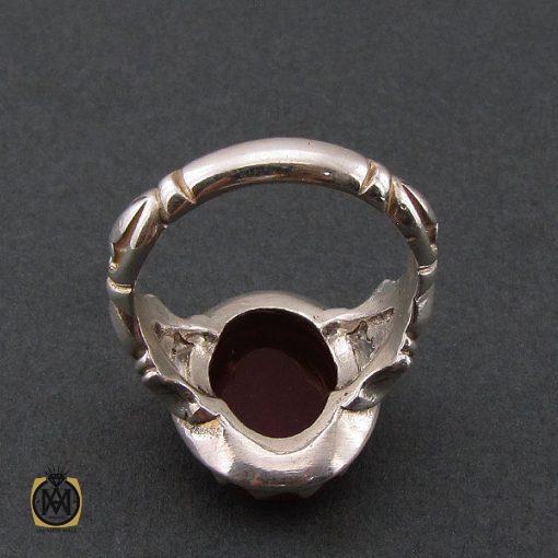 انگشتر عقیق قرمز مردانه با حکاکی ومن یتق الله - کد 8627 - 3 95 510x510