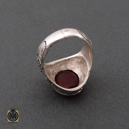 انگشتر عقیق یمن مردانه با حکاکی یا حیدر کرار استاد حیدر – کد ۸۵۹۵
