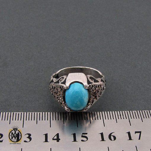 انگشتر فیروزه نیشابور مردانه خوش رنگ - کد 8680 - 4 163 510x510