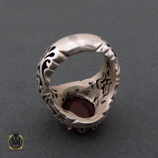 انگشتر عقیق یمن مردانه با حکاکی یا حسین ثارالله استاد حیدر - کد 8603 - 4 21 510x510