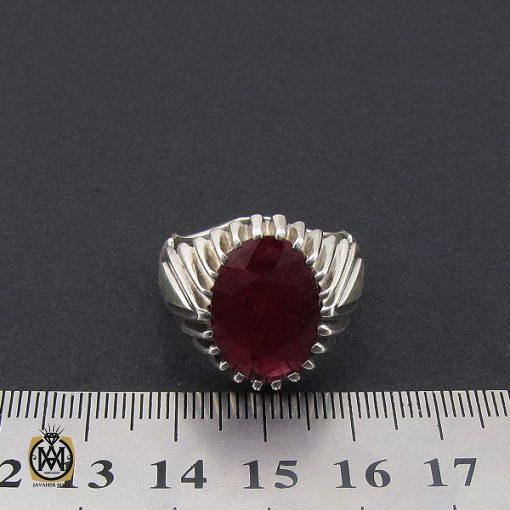 انگشتر یاقوت سرخ درشت مردانه دست ساز – کد ۸۷۴۶