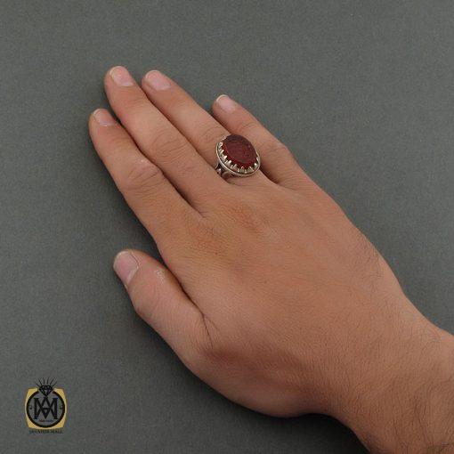 انگشتر عقیق یمن با حکاکی ومن یتق الله - کد 8676 - 5 101 510x510