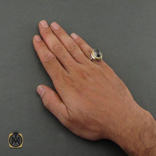 انگشتر دُر نجف مردانه - کد 8684