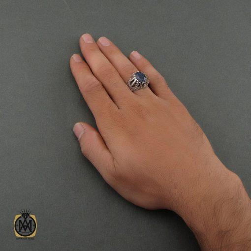 انگشتر یاقوت کبود آفریقایی مردانه - کد 8700 - 5 127 510x510