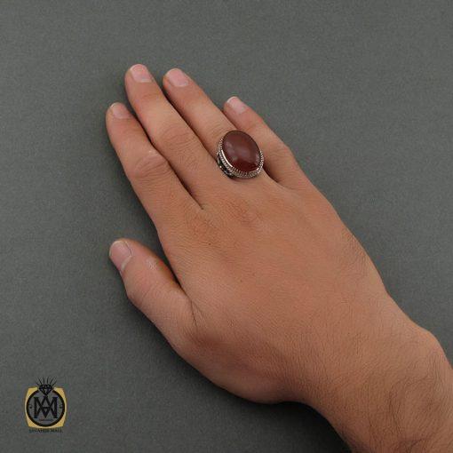 انگشتر عقیق یمن مردانه درشت - کد 8706 - 5 132 510x510