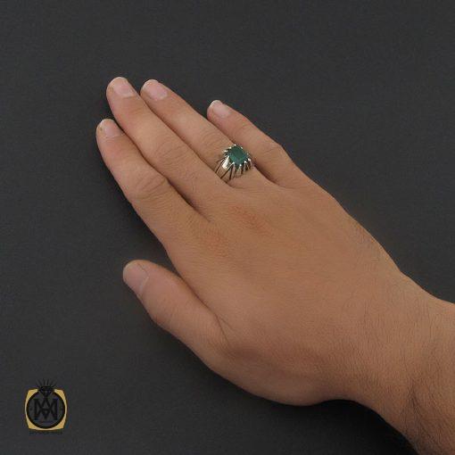 انگشتر زمرد زامبیا مرغوب مردانه هنر دست استاد نامی - کد 8734 - 5 162 510x510