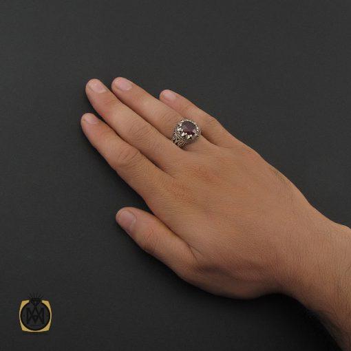 انگشتر یاقوت سرخ خوش رنگ مردانه - کد 8743 - 5 189 510x510