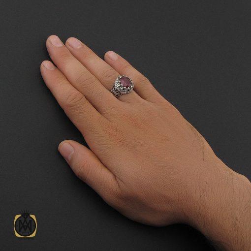 انگشتر یاقوت سرخ خوش رنگ مردانه - کد 8745 - 5 191 510x510