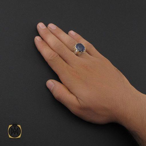 انگشتر یاقوت کبود آفریقایی مردانه هنر دست استاد باقرزاده - کد 8752 - 5 197 510x510