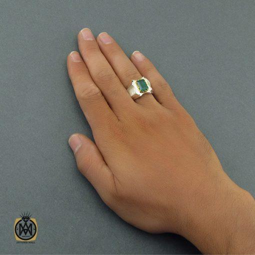 انگشتر زمرد زامبیا مردانه لوکس و معدنی - کد 8585 - 5 2 510x510