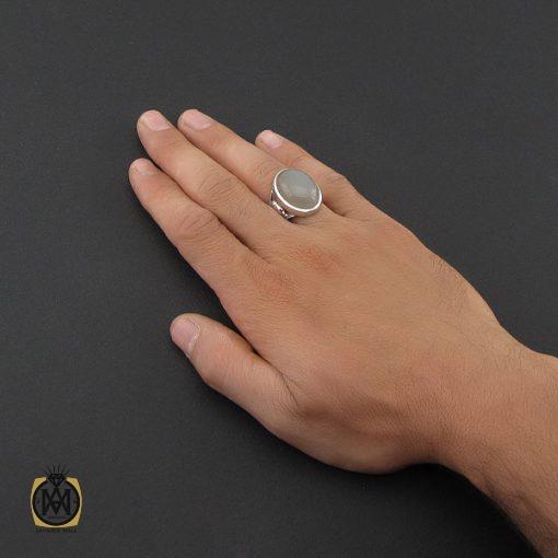 انگشتر مون استون مردانه مرغوب دست ساز - کد 8758 - 5 203 510x510