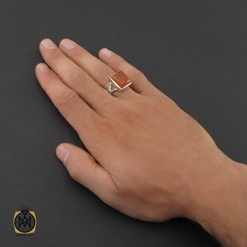 انگشتر عقیق یمن مردانه دست ساز - کد 8760 - 5 205 510x510