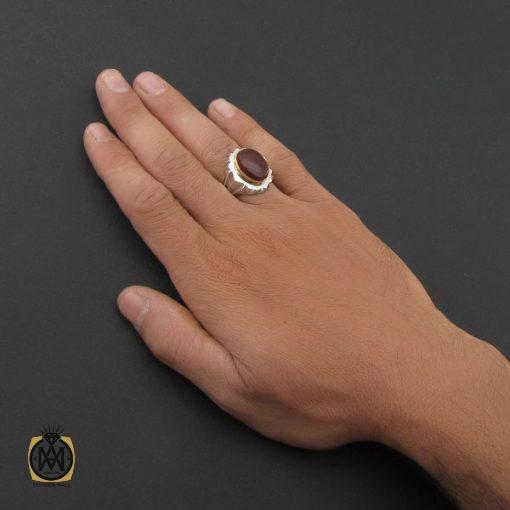 انگشتر عقیق یمن مردانه هنر دست استاد شرفیان – کد 8780