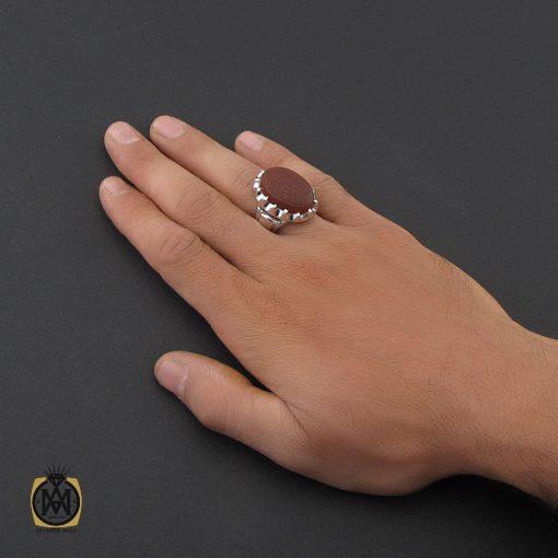 انگشتر عقیق یمن مردانه با حکاکی ومن یتق الله استاد رائف – کد 8783 - 5 228 510x510