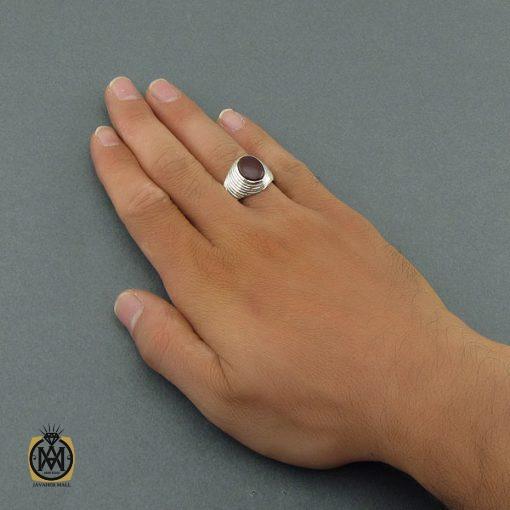 انگشتر عقیق یمن مردانه دست ساز - کد 8607