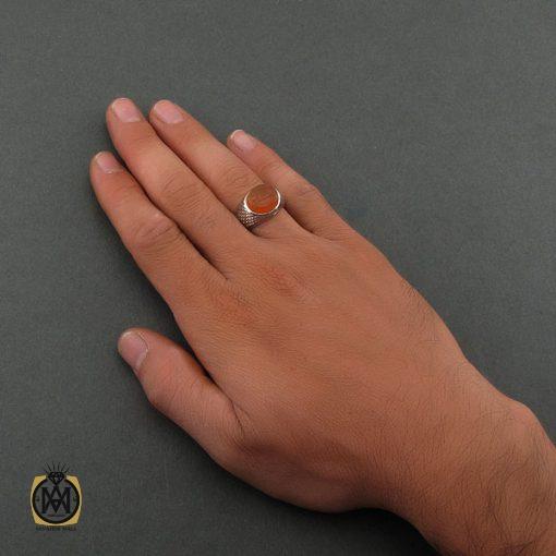 انگشتر عقیق یمن با حکاکی شرف الشمس اثر استاد ضابطی - کد 8666 - 5 92 510x510