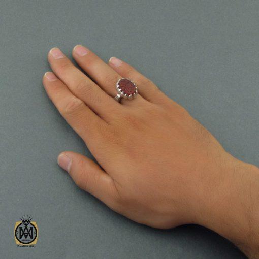 انگشتر عقیق یمن مردانه با حکاکی یا قادر المتعال استاد حیدر - کد 8600 - 6 12 510x510